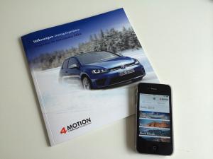 Catálogo y aplicación de Volkswagen Driving Experience. Realizado por Mostaza Comunicación
